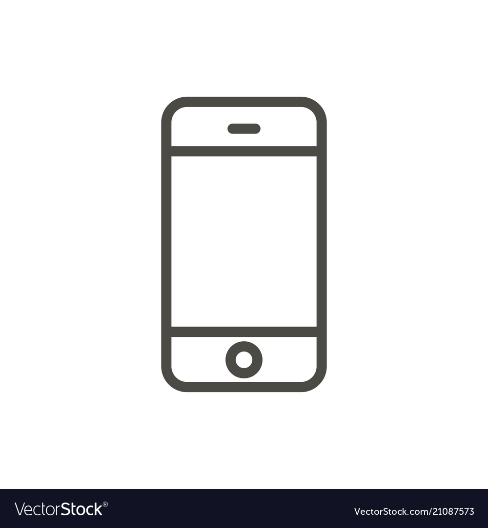 Phone Icon Line Smartphone Symbol Royalty Free Vector Image