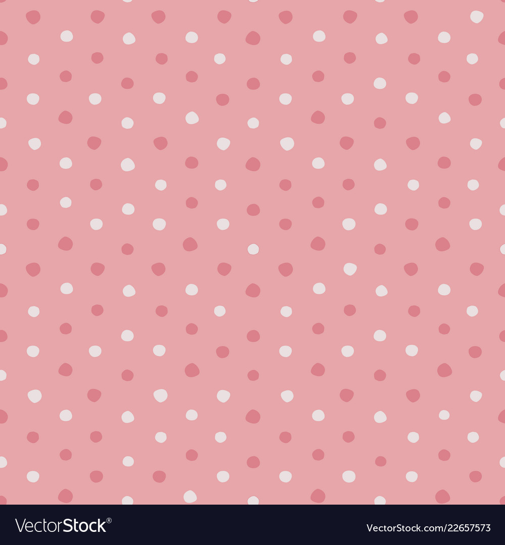 Pink and white irregular polka dots