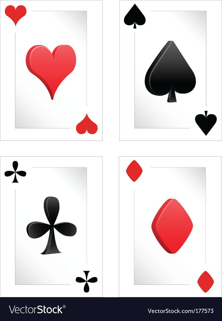 Poker clubs diamonds hearts spades