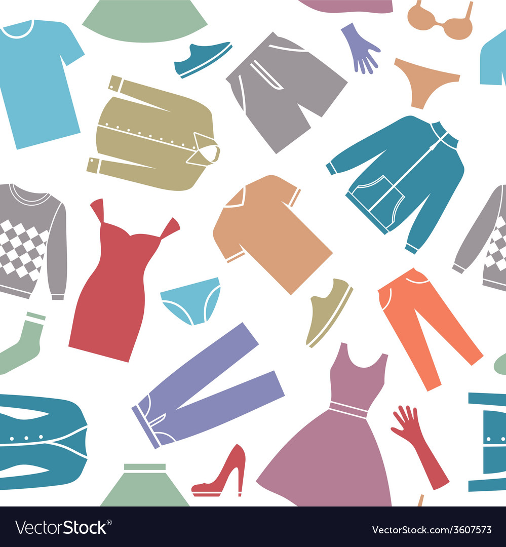 Seamless Background With Clothes Royalty Free Vector Image