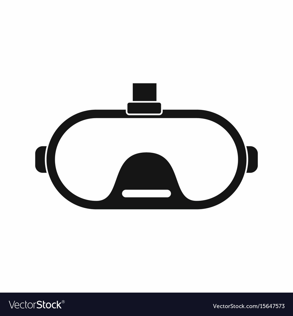 Virtual reality glasses in silhouette style