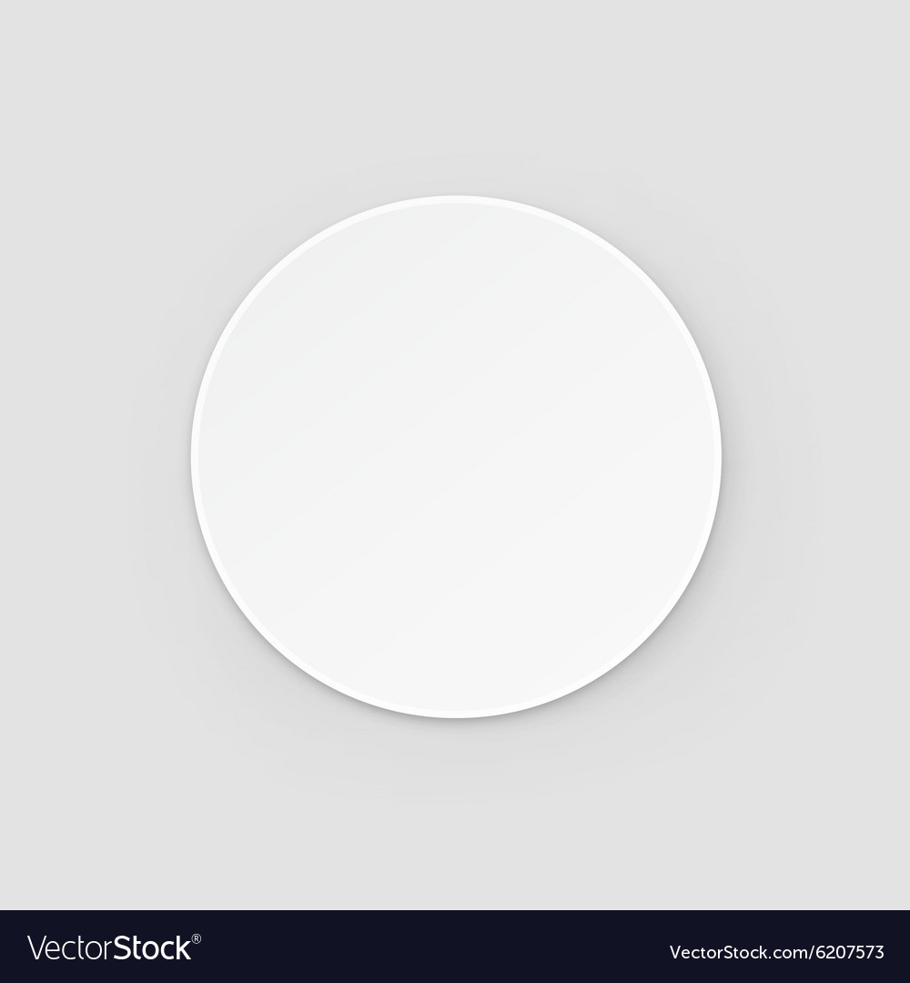 White Round Blank Beer Coasters Isolated