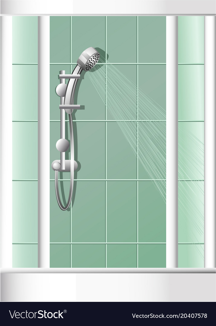 Bathroom shower vector image