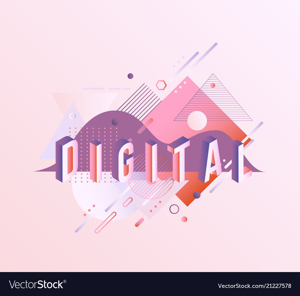 Digital vibrant gradient poster template