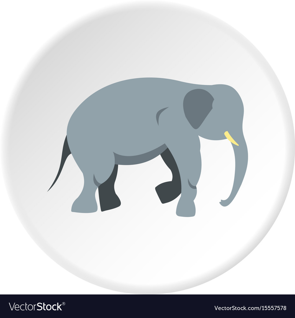 elephant icon circle royalty free vector image vectorstock