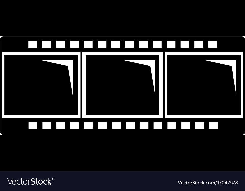 Film strip icon simple black style vector image