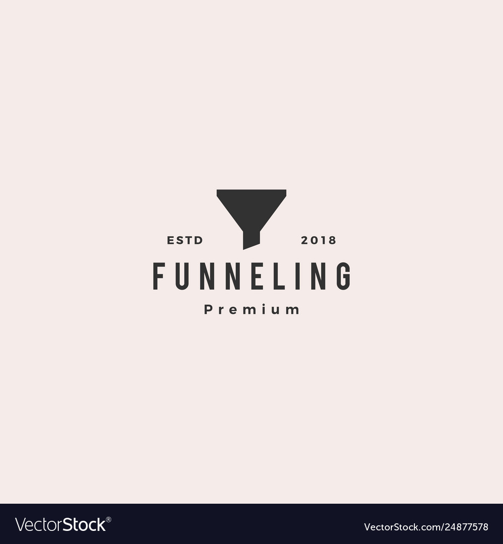 Funneling logo icon vector
