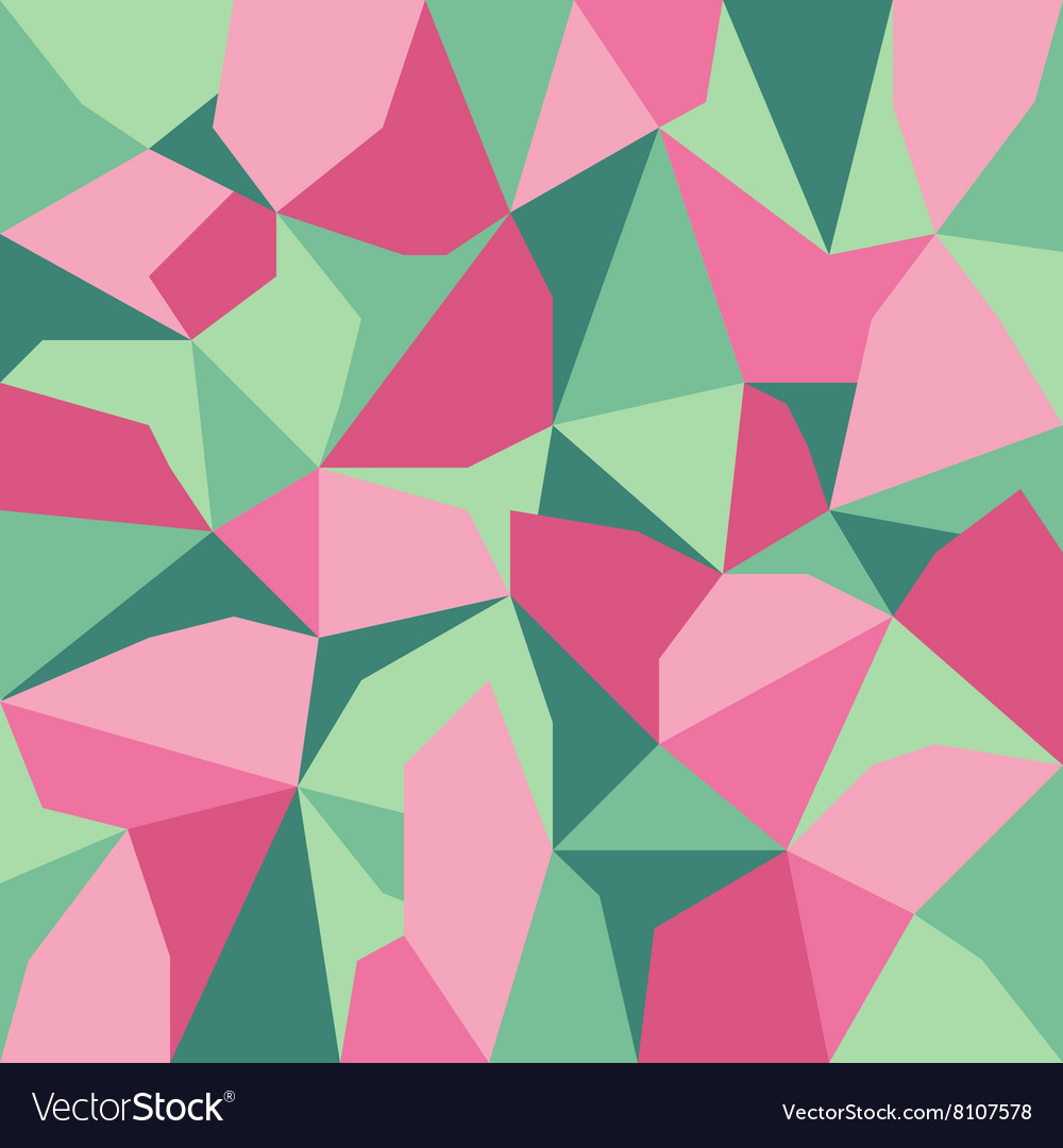 Green pink abstract polygon background