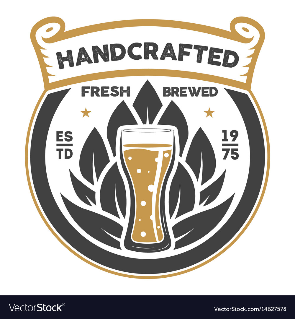 Handcrafted beer brewery retro sign