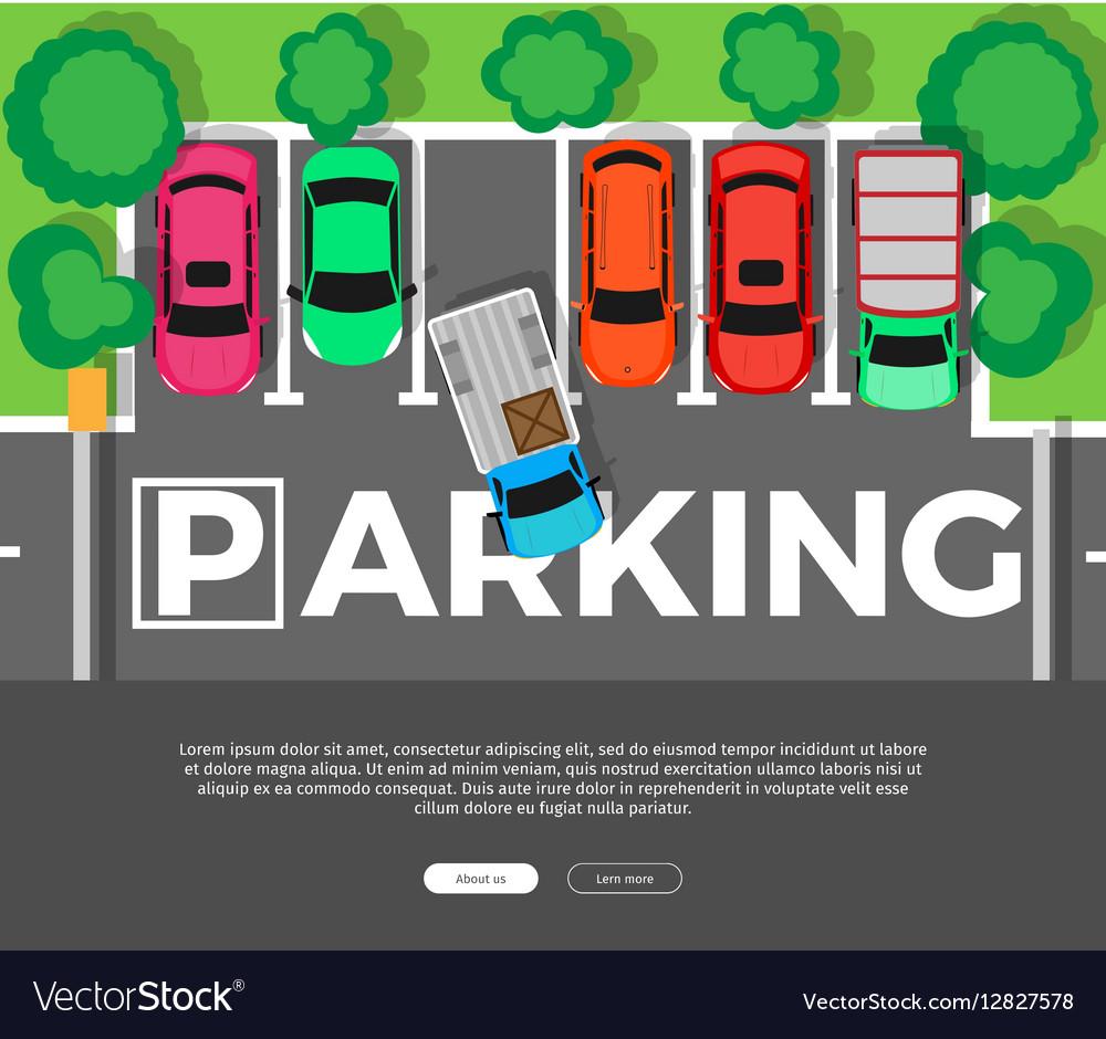 Parking Conceptual Web Banner Car Park