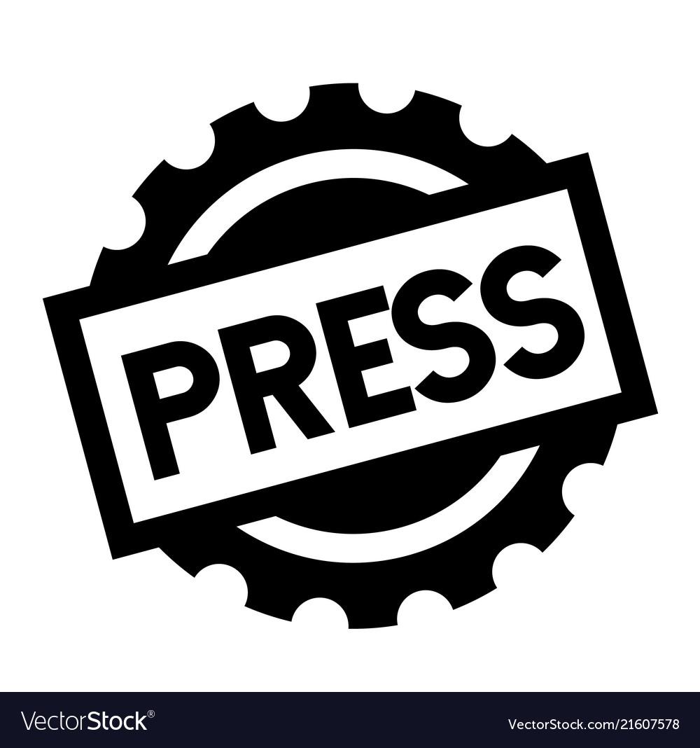 Press black stamp Vector Image