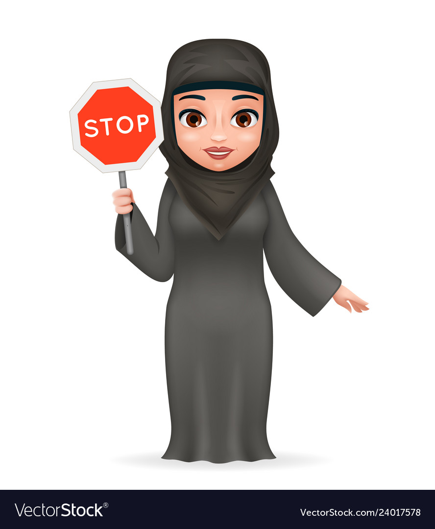 Protest fight for equal rights stop sign arabe