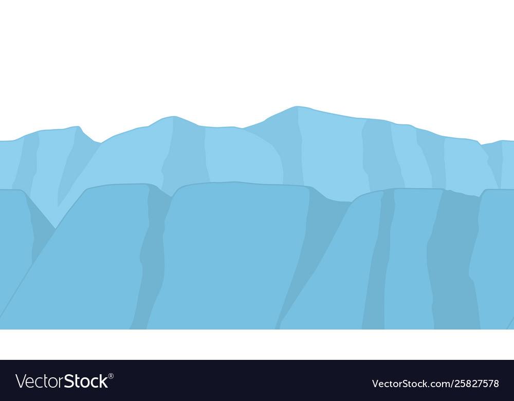 Seamless mountains in cartoon style