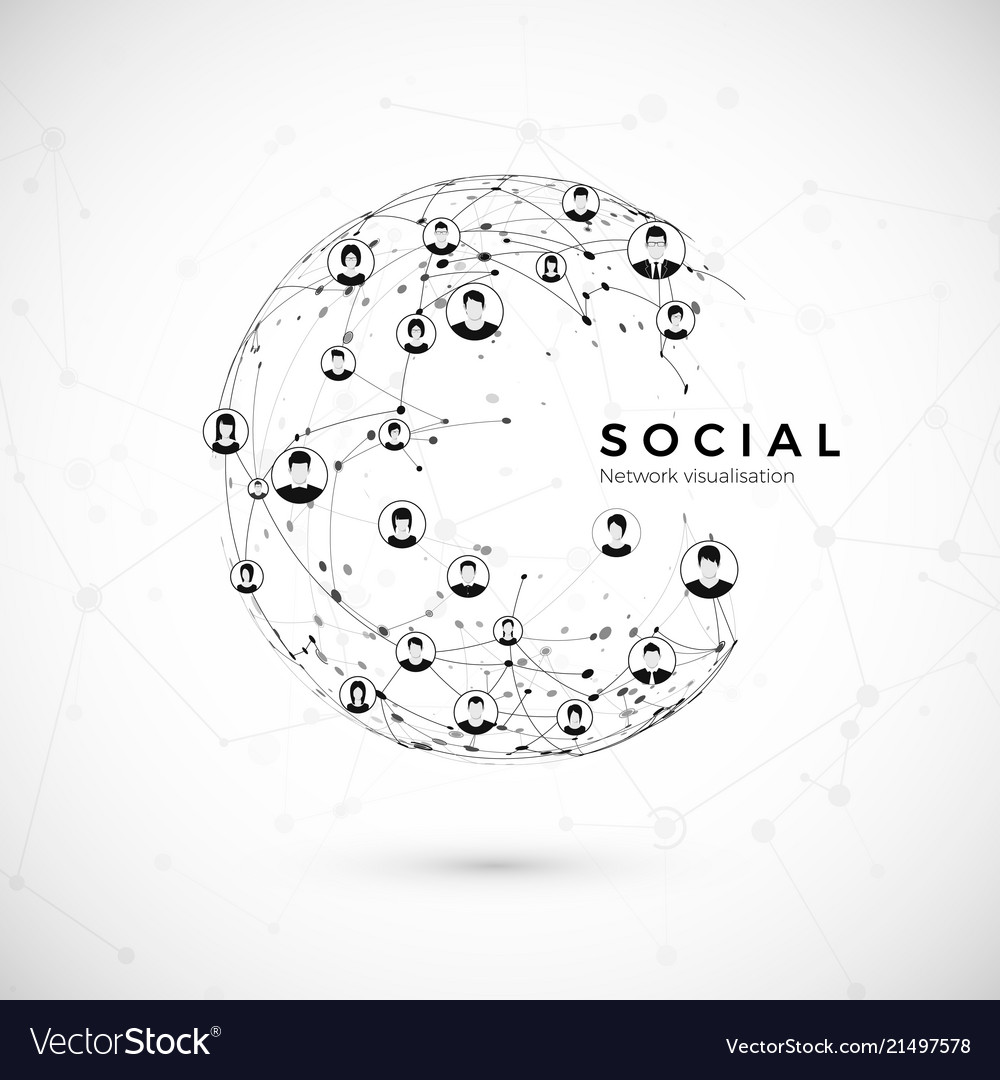 Social network structure of globe connection