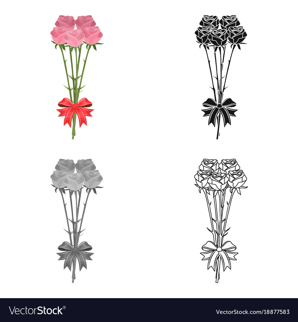 A bouquet of fresh flowers single icon in cartoon vector image izmirmasajfo