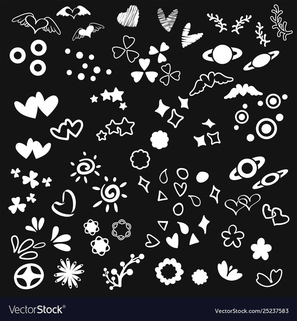 Abstract doodle art design element