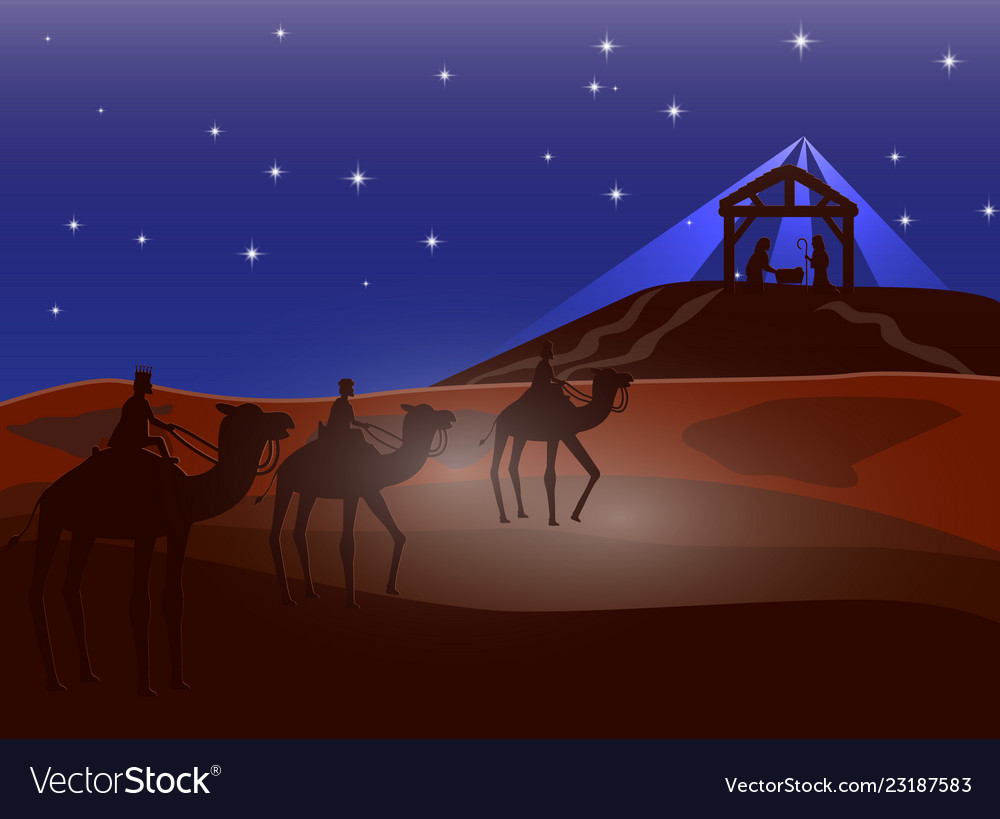 Christmas christian nativity scene of baby jesus