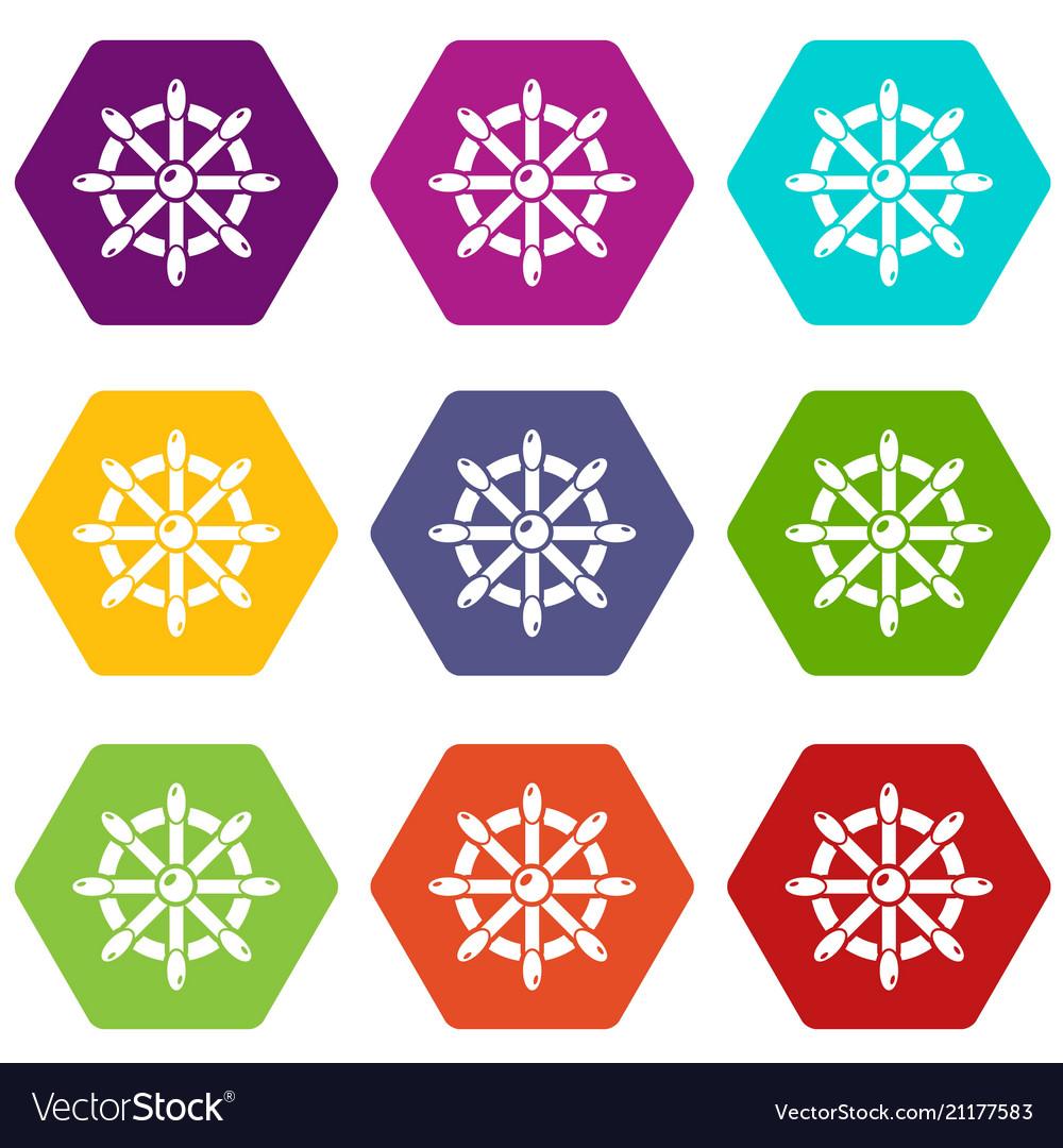 Handwheel icons set 9