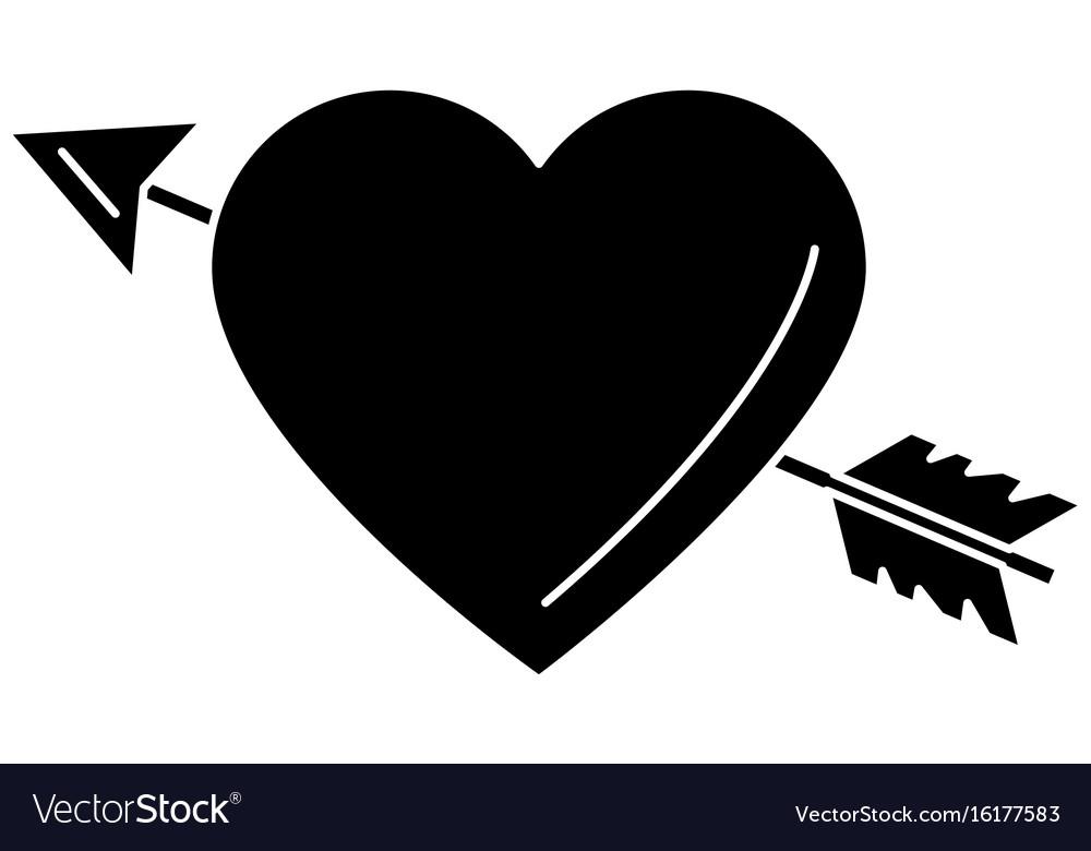 heart love card with arrow royalty free vector image rh vectorstock com heart with arrow emoji heart with arrow clipart