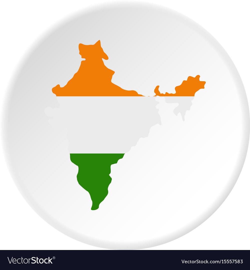Indian map icon circle