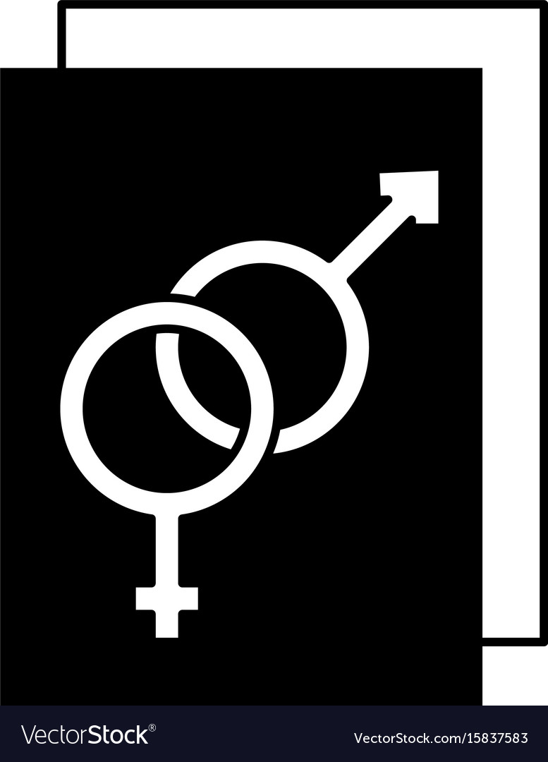 Paper With Male And Female Symbol Royalty Free Vector Image