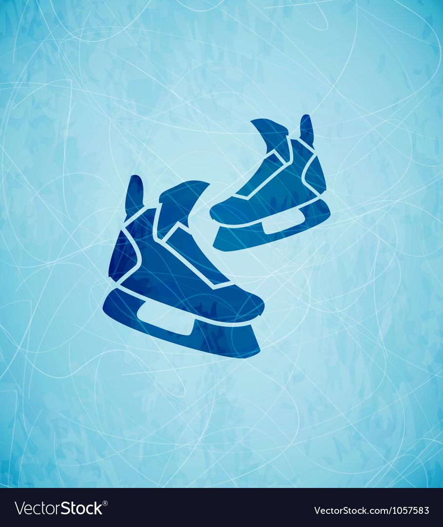 Skates background vector image