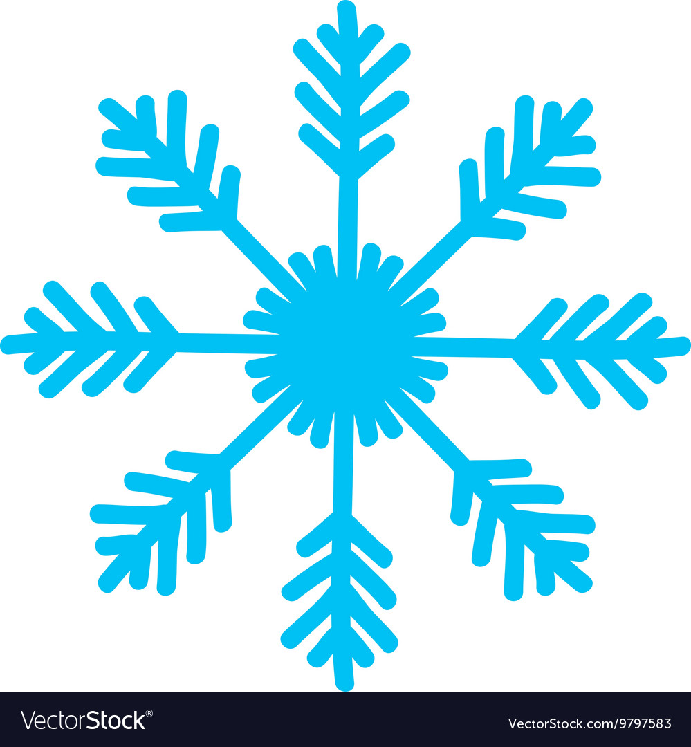 Snowflake Icon Winter Design Graphic Royalty Free Vector