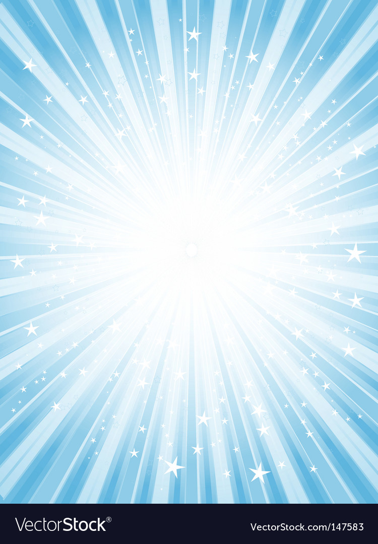 Star burst background vector image