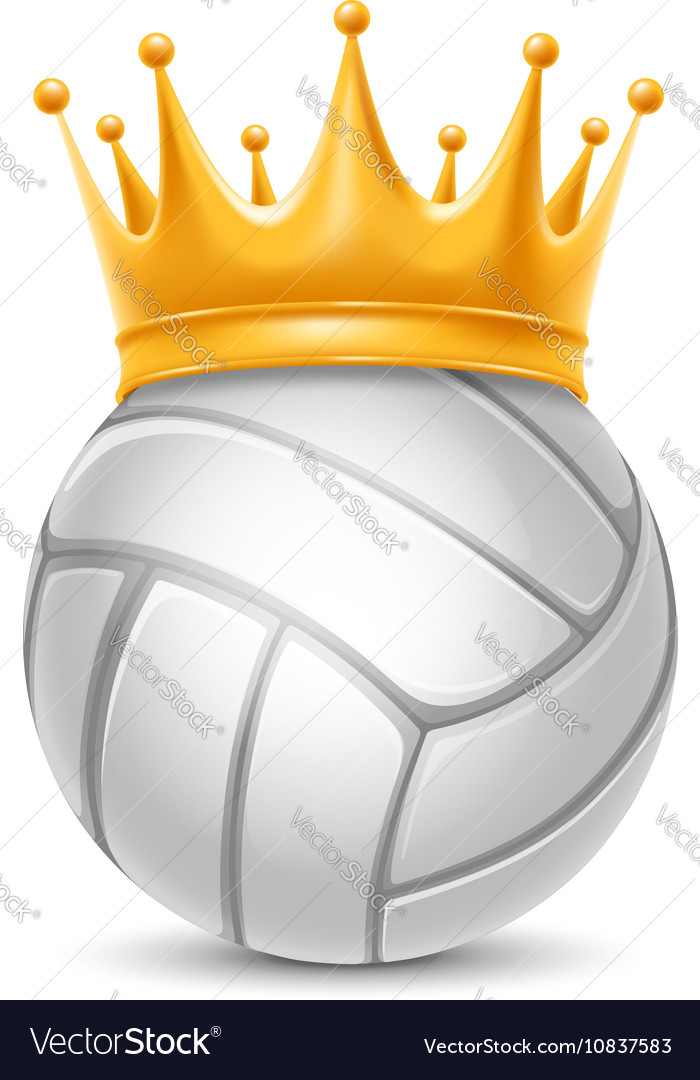 Volleyball ball in crown