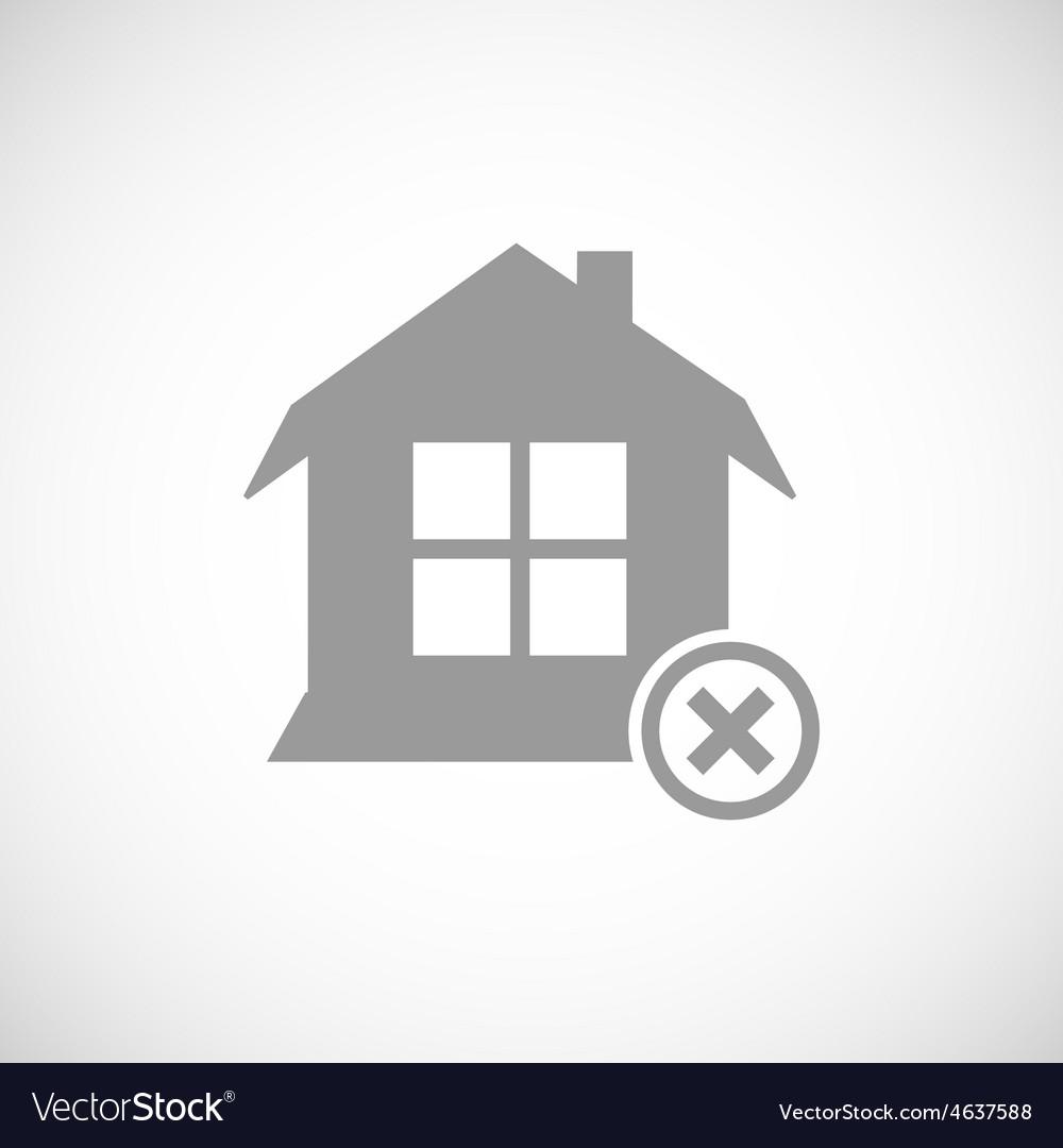 Abandoned house icon