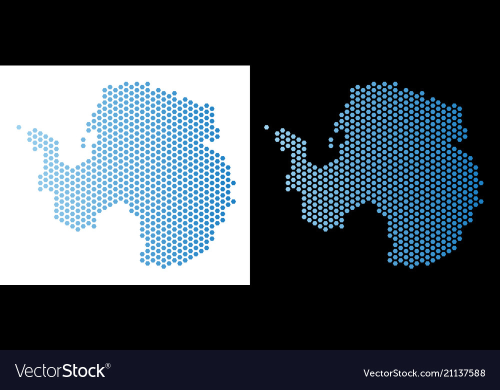 Antarctica map hex-tile abstraction