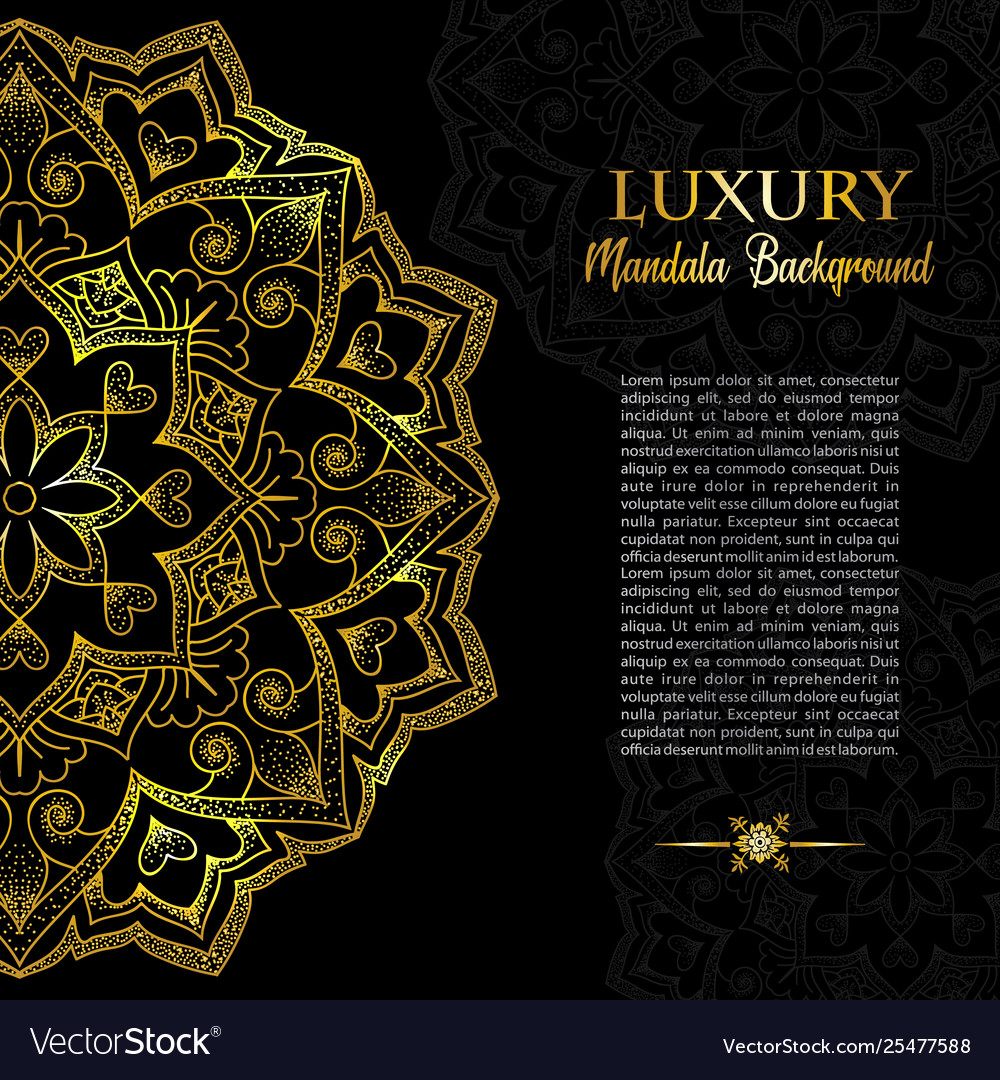Geometric gold logo template gold arabic