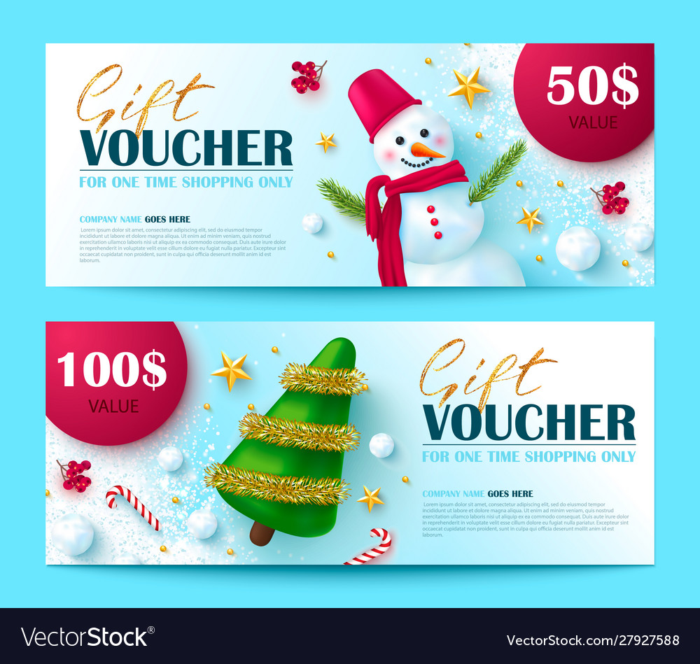 Gift voucher for christmas and new year sale