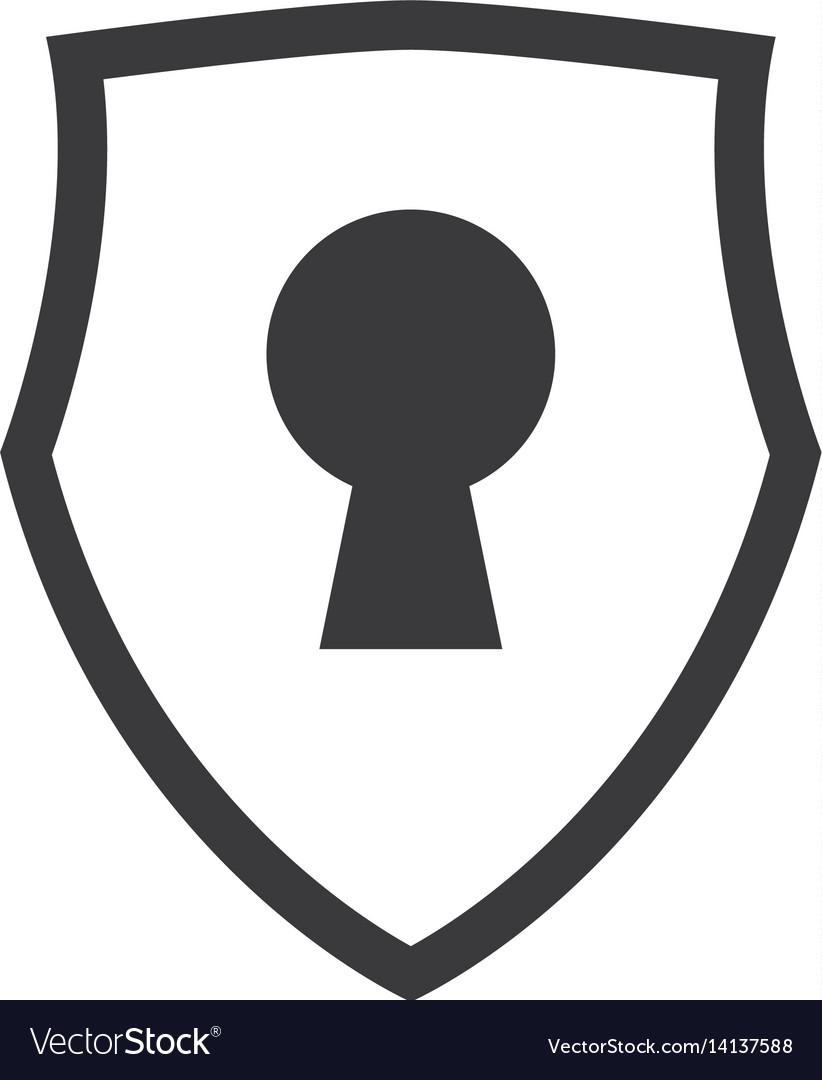 Keylock Security Symbol Royalty Free Vector Image