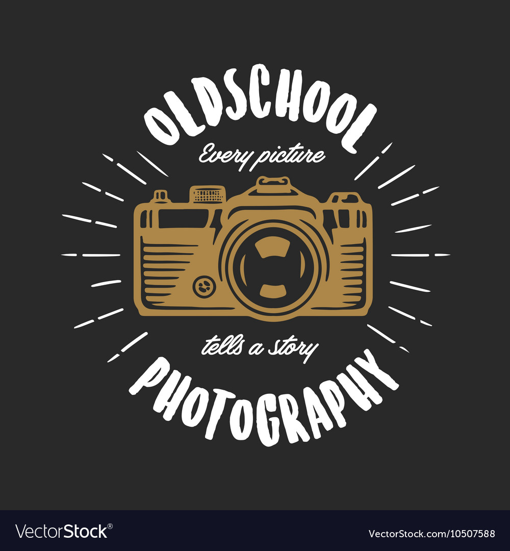 Oldschool Photography Vintage T Shirt Design Vector Image