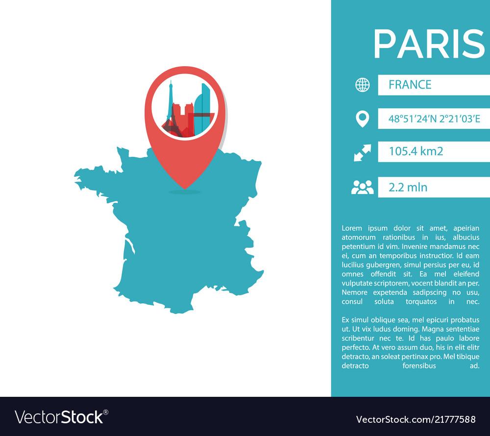 Paris map infographic