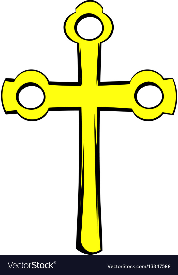 Religious symbol of crucifix icon icon cartoon
