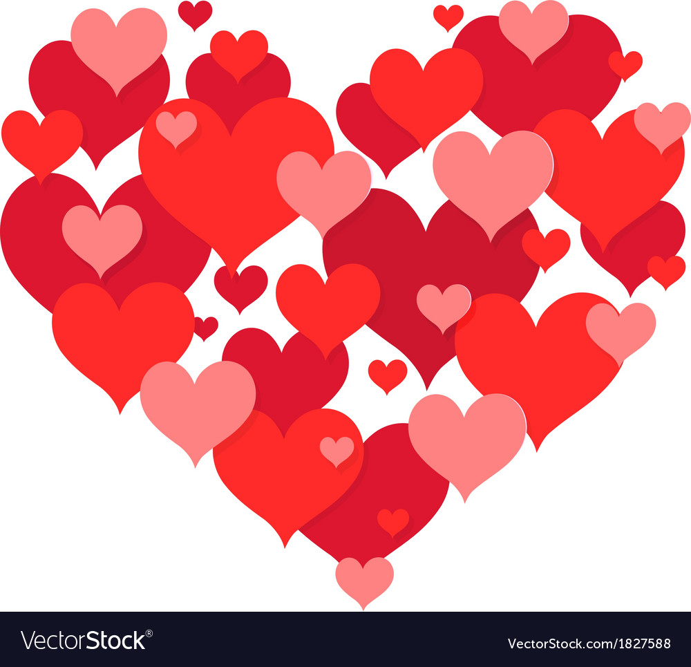 St valentines heart shape design