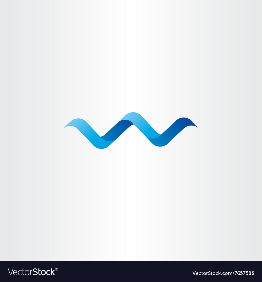 Water wave spiral letter w logo icon vector image
