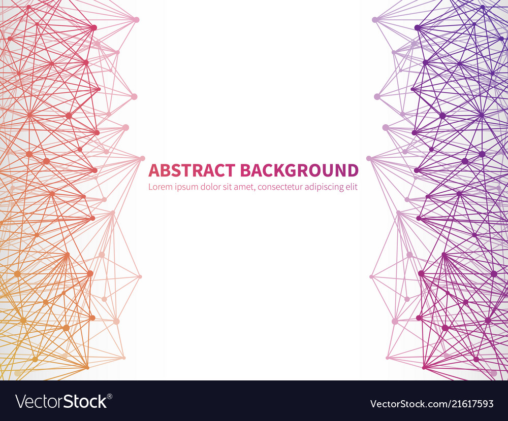 Abstract geometric background template with