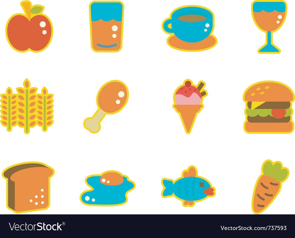 Cute icon food