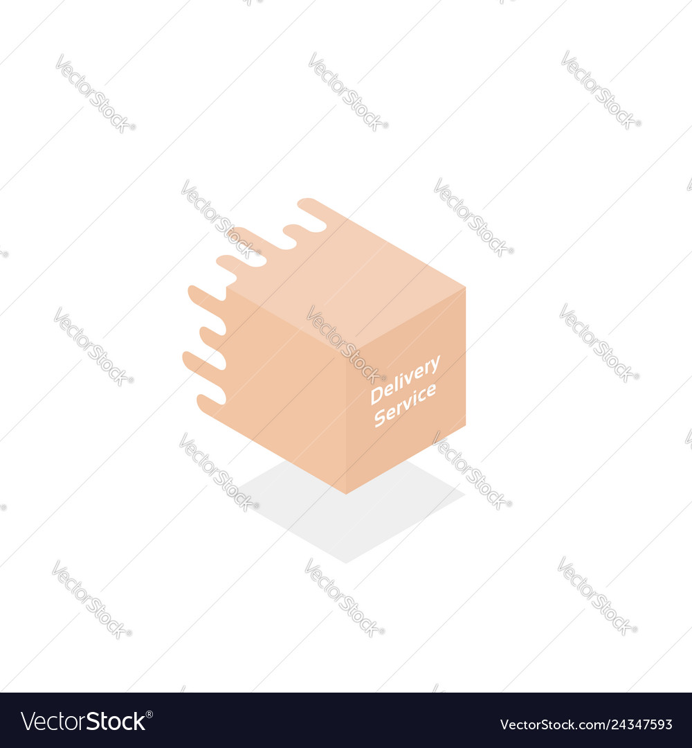 Delivery service logo like 3d gift box