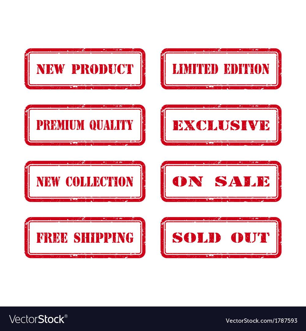 Grunge Rubber Stamp Set For A Shop