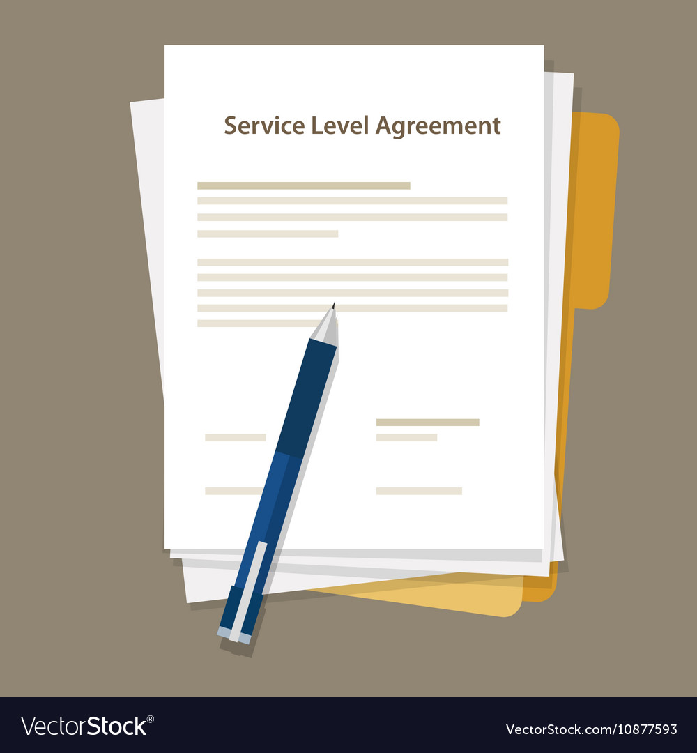 SLA Service Level Agreement document pen paper
