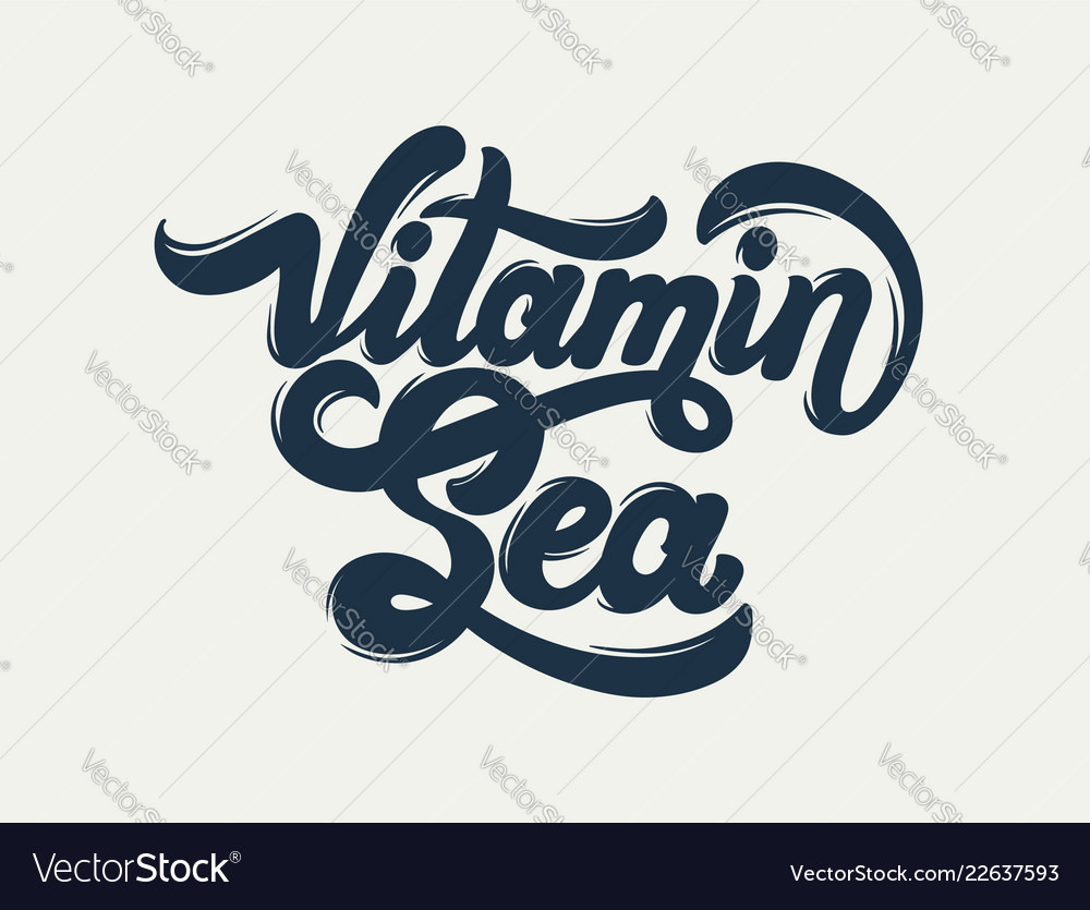 Vitamin sea quote typographical background