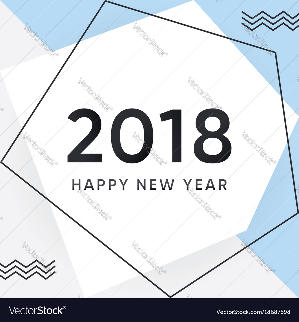2018 happy new year card and background