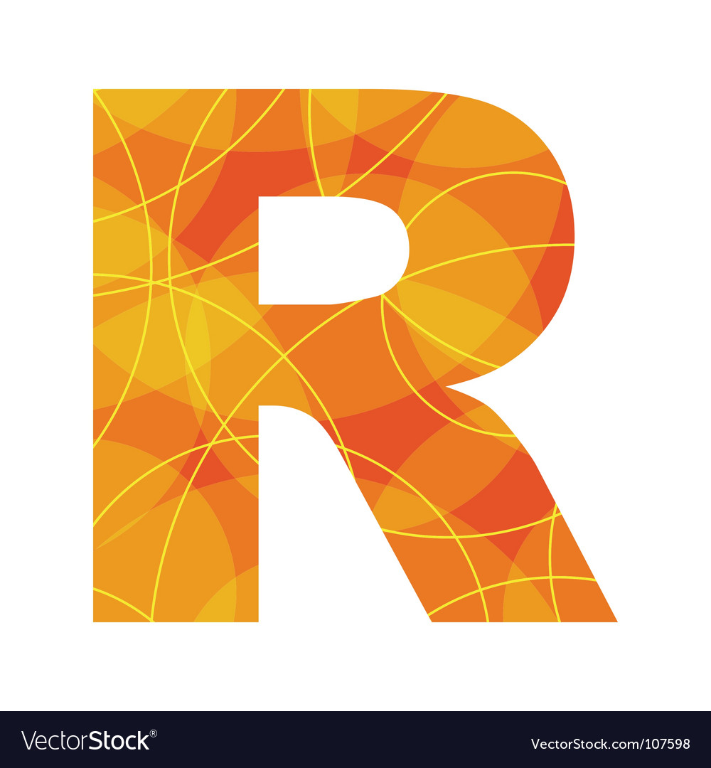 Abstract font letter R