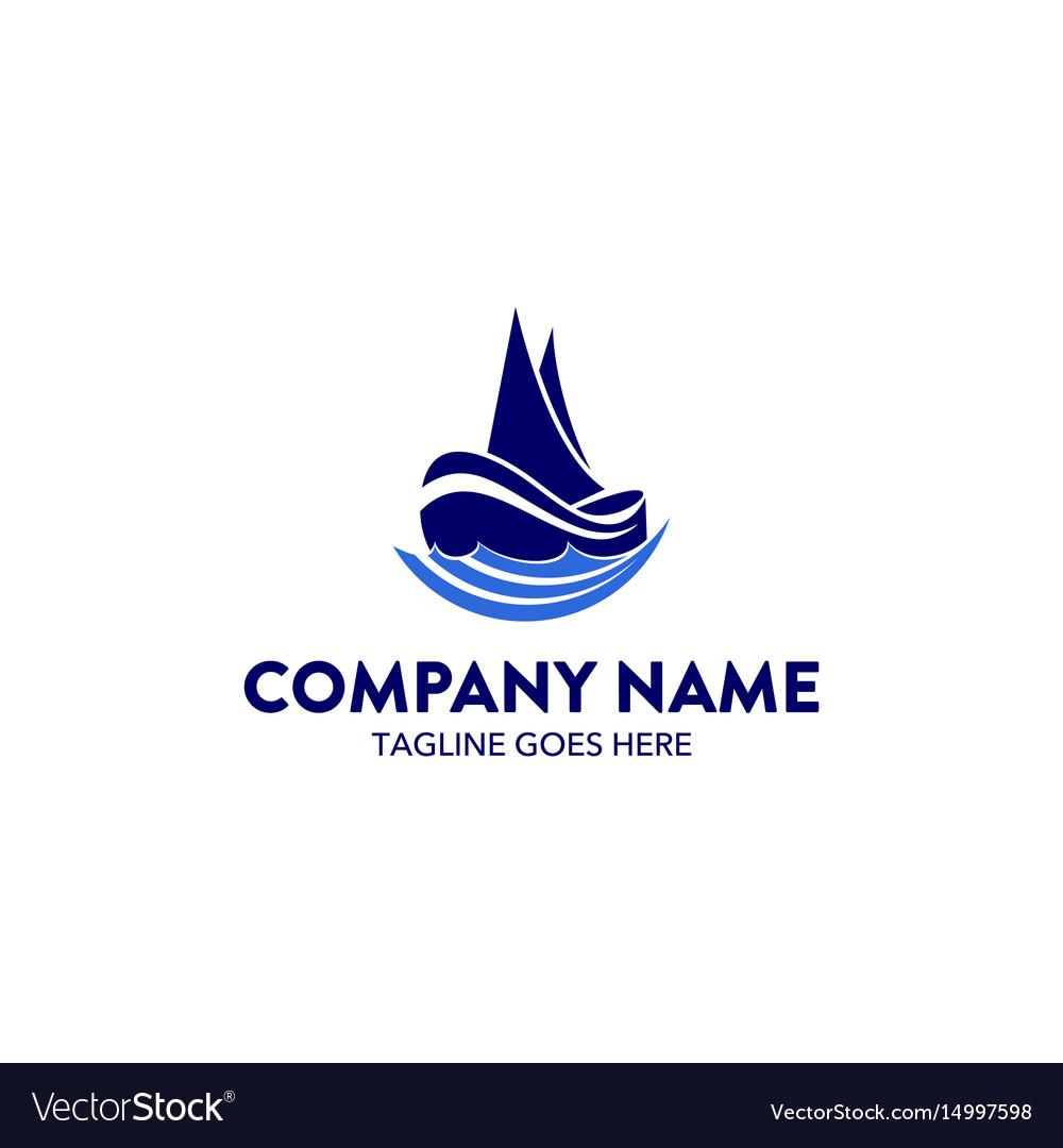 Aviation and marine logo template