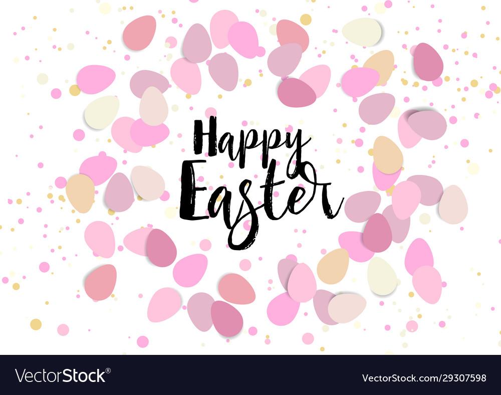 Easter eggs confetti