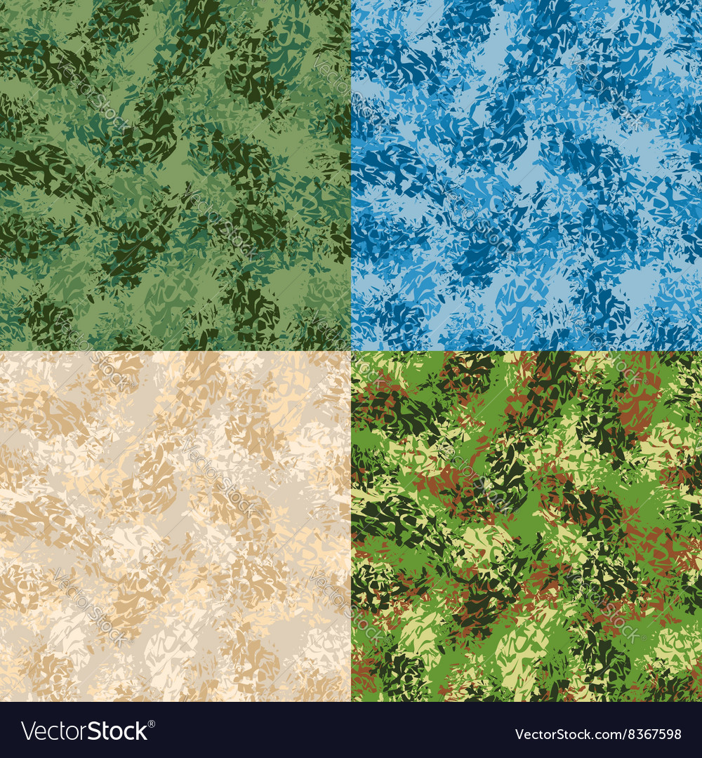 Military seamless pattern Set army texture